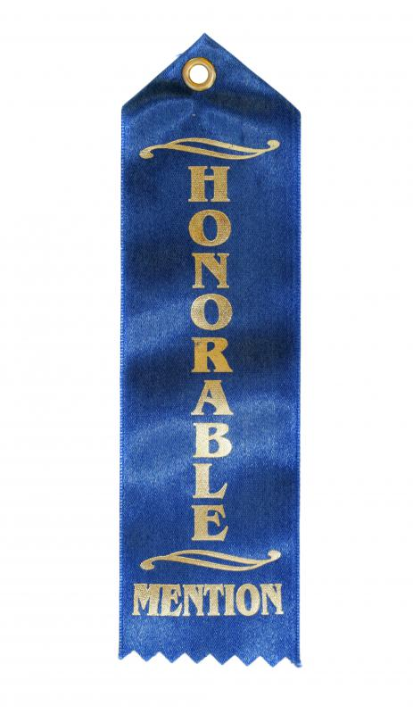 Honorable mention ribbon.