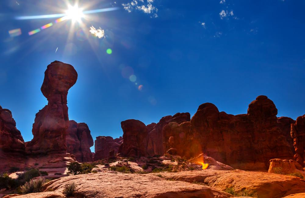 Natural sandstone arches are one of the biggest attractions of Arches National Park.