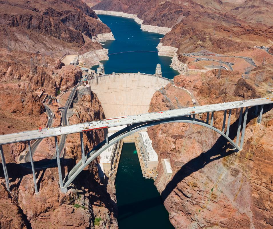 The Hoover Dam is used to generate hydroelectric power and help control flooding on the Colorado River.
