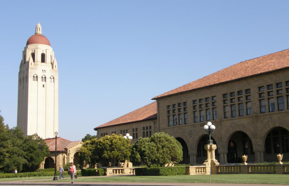 Hoover Tower at Stanford University, one of the top universities in the US.