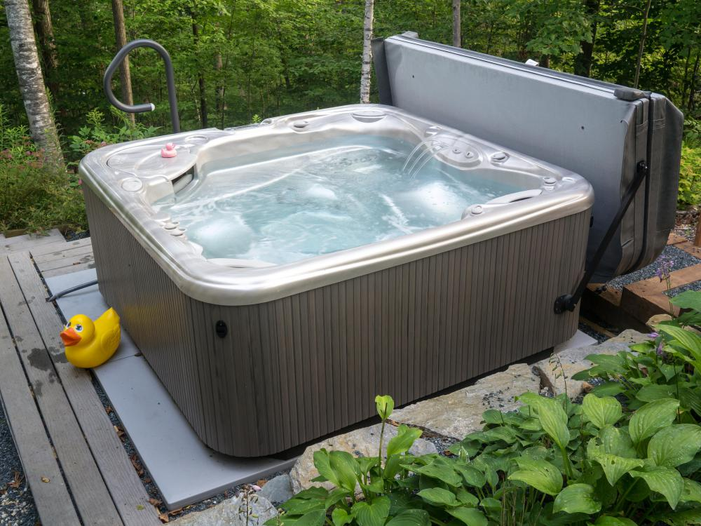 Chlorine tablets can help kill off bacteria growing in a hot tub.