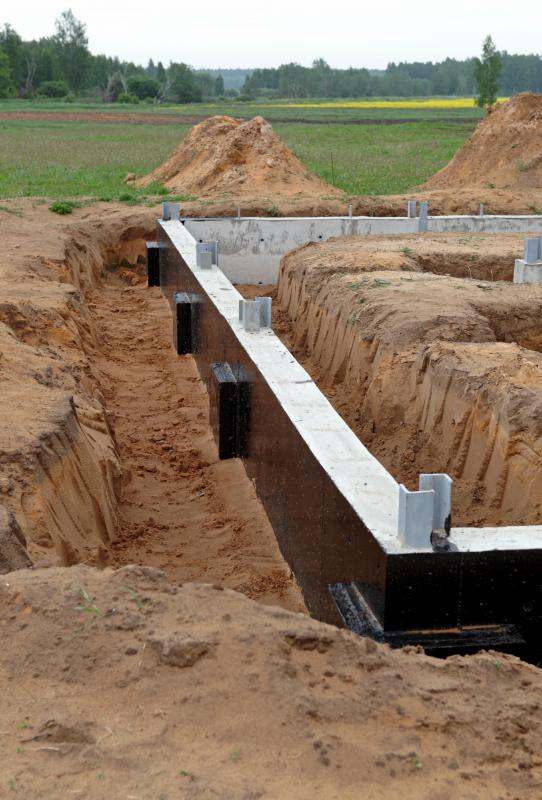 Soil that is excavated from a building site may be backfilled against the concrete foundation.