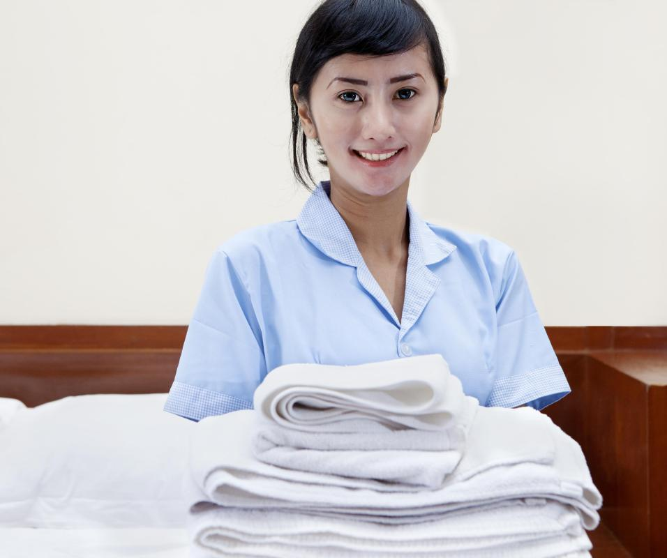 Housekeeping managers oversee the cleanliness of hotel rooms.
