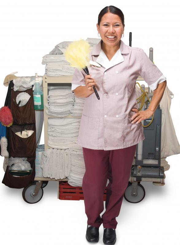 Hospitality career opportunities may include work as a housekeeper.