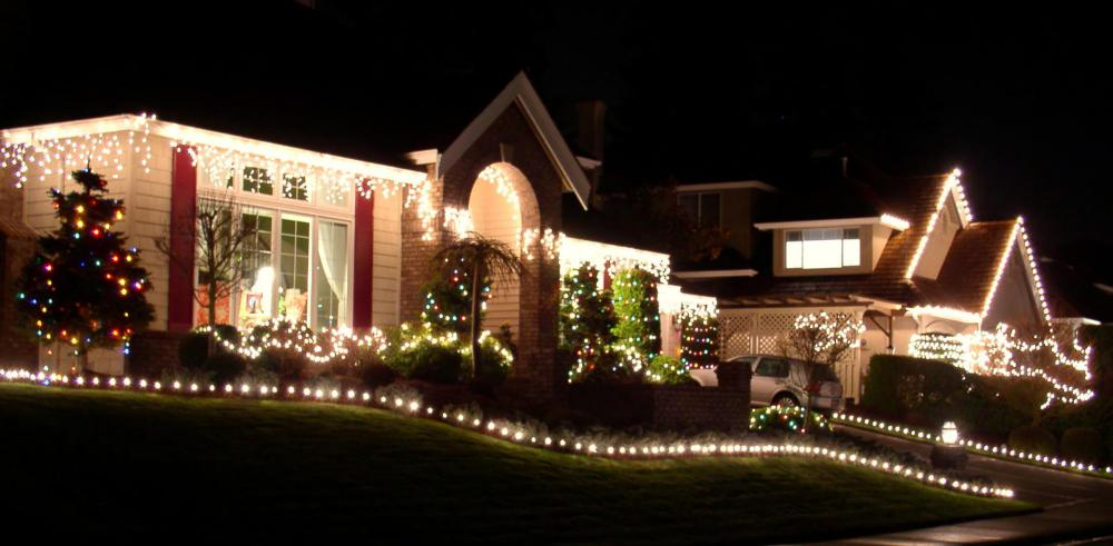 Houses at Christmas.