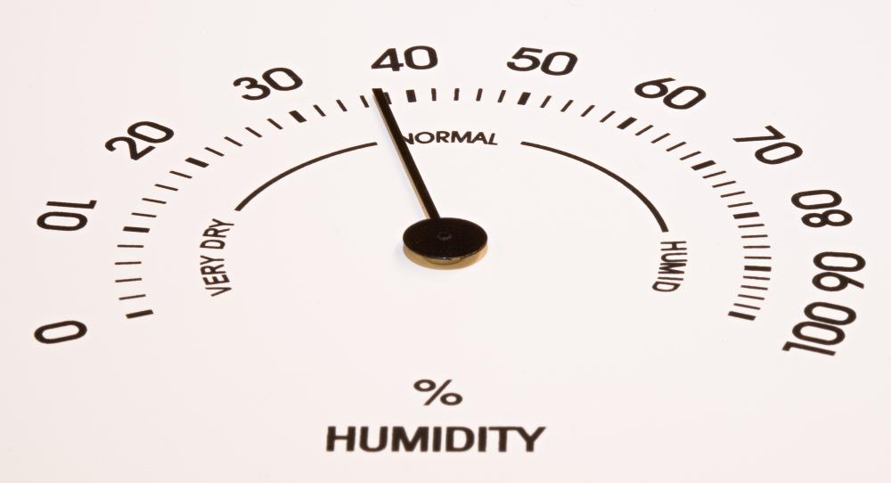 An ideal humidity level is about 45 percent.