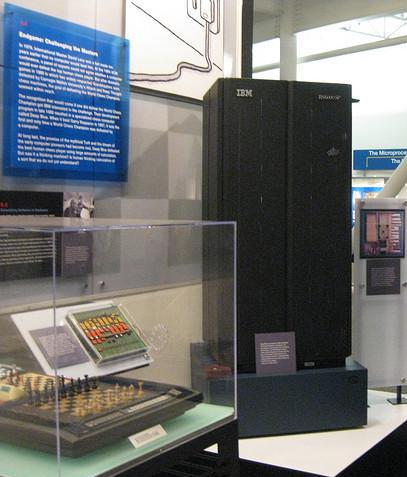 IBM's Deep Blue was a supercomputer that exhibited artificial intelligence by playing chess against human Grand Masters.