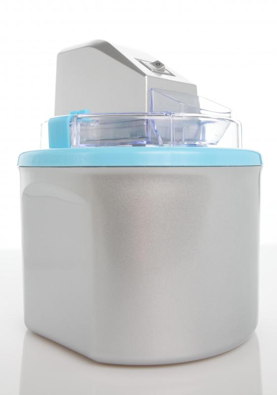 An ice cream maker may be used to prepare tasty ice cream treats.