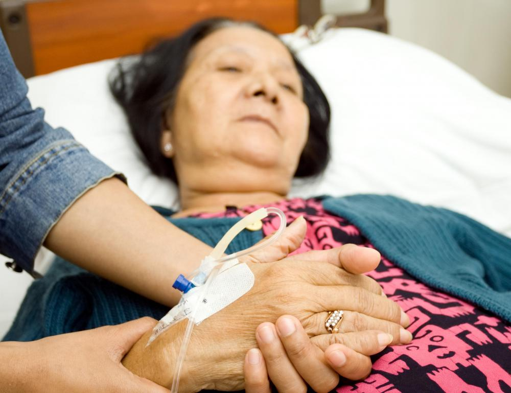 Morphine can help to comfort a terminally ill patient.