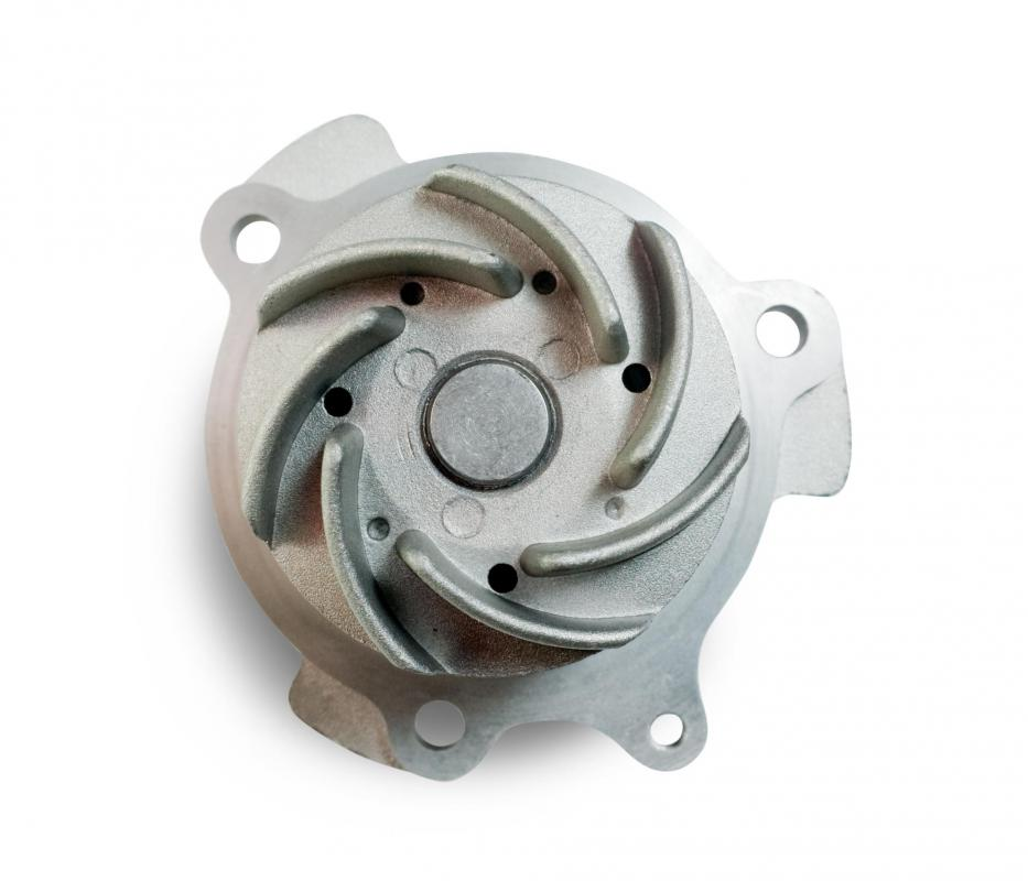 Impellers inside water or fuel pumps can be damaged by cavitation.