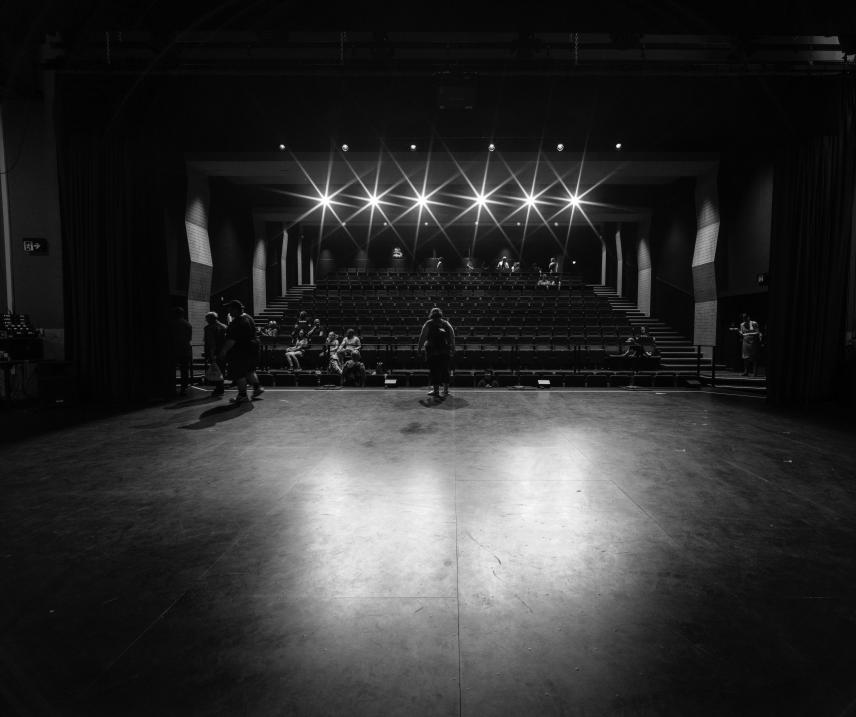 A black box theater is a simple, unadorned performance space that can be adapted to fit the staging and seating requirements of many different types of theatrical productions.
