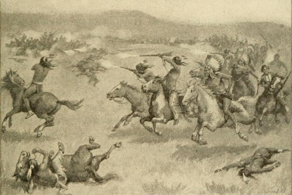 Custer's cavalry was slaughtered by Indian forces in the Battle of the Little Big Horn.
