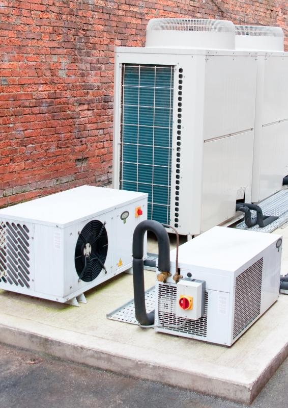 A refrigeration plant can be the underpinning for an industrial air conditioner.