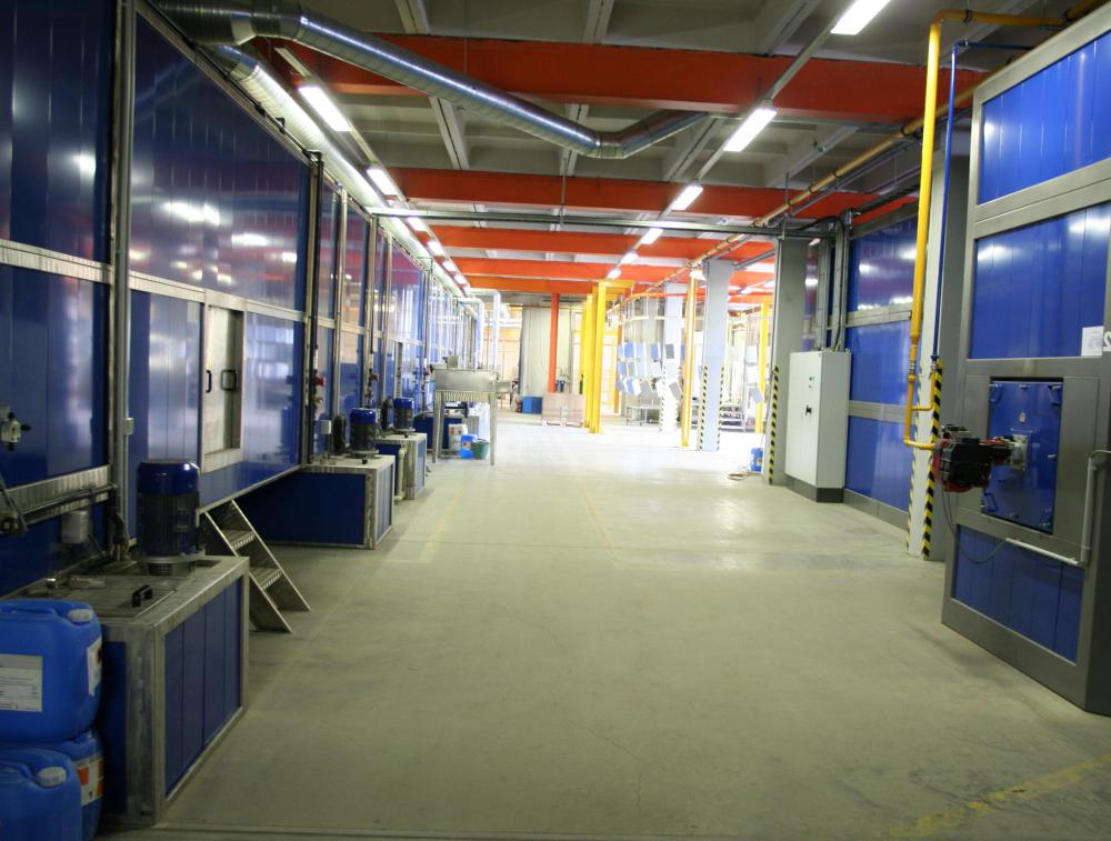 Epoxy coating may be used on floors that receive heavy foot and vehicle traffic.