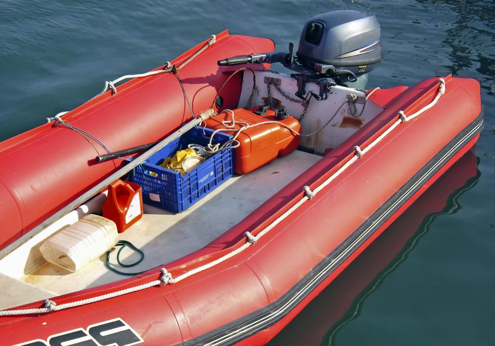 In a marine application, the steering actuator is typically mounted near the rear of the vessel.