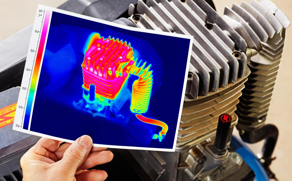 Thermal cameras commonly use false colors in displays to make images easier for people to interpret.