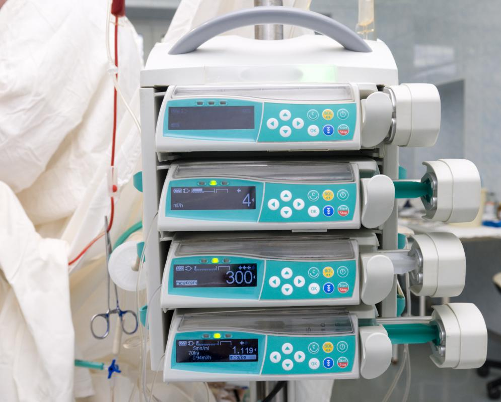 A device called an infusion pump is used to control the timing and amount of nutrition administered.