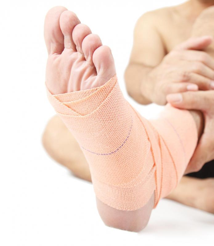 A twisted ankle causes pain.