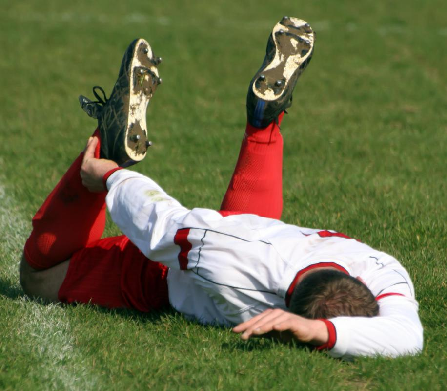 Soccer injuries are at risk of ankle injuries that require sports bandages.