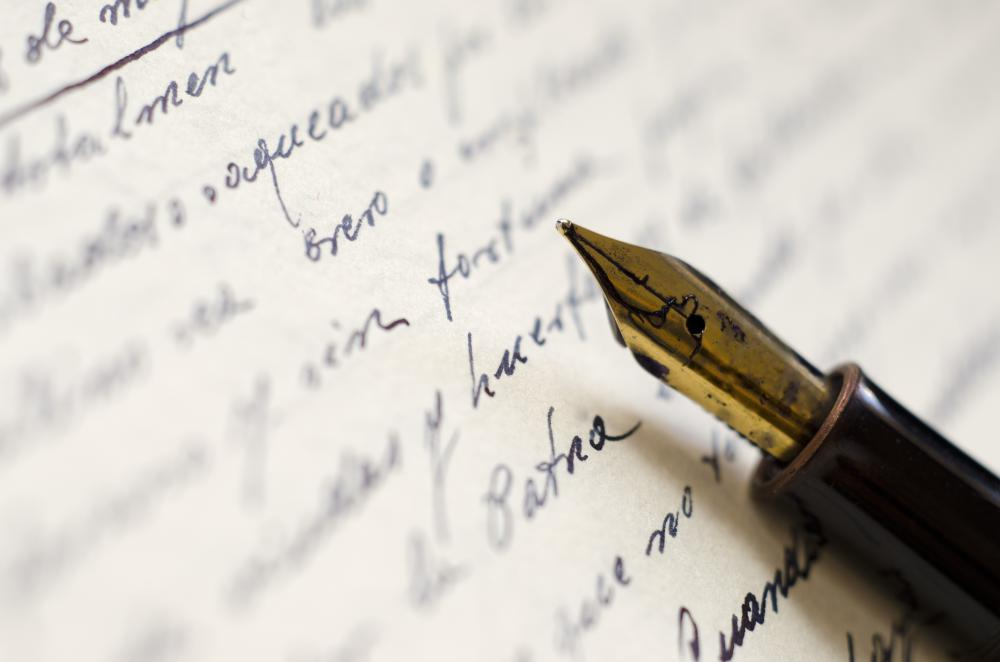 A handwriting forgery can include altering a written document.