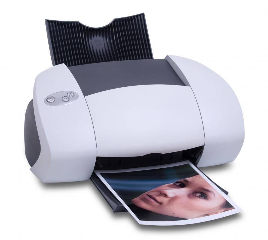 An inkjet printer, which can be used to make stickers at home.