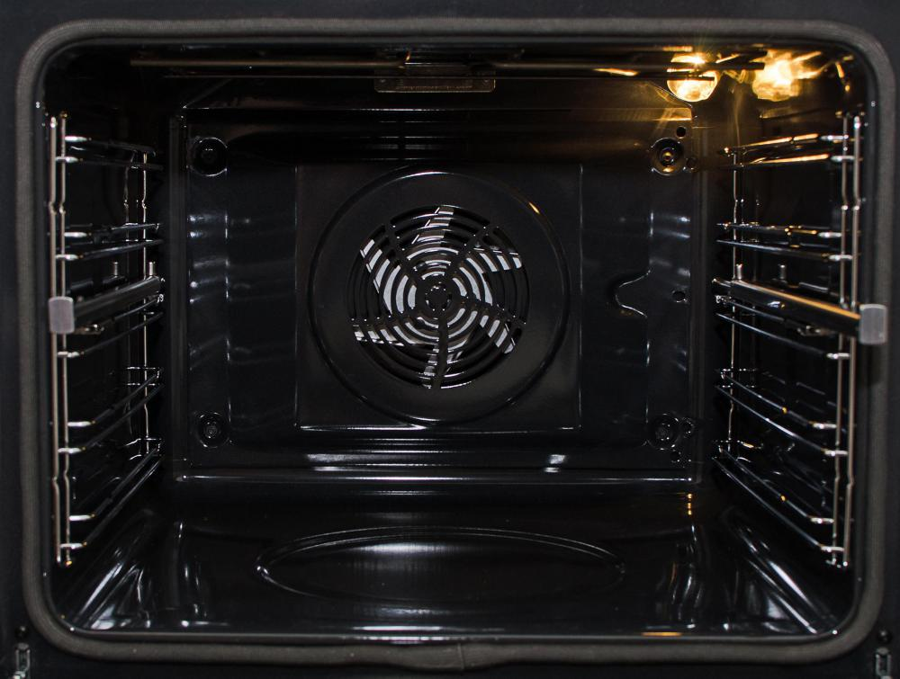 fan forced oven. convection ovens have a fan to distribute heat throughout the oven, contributing more consistent and faster cooking. forced oven