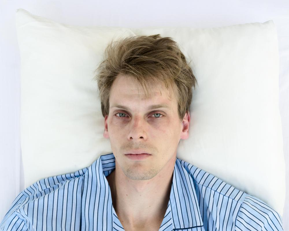Sleeplessness is a common symptom of hangovers.