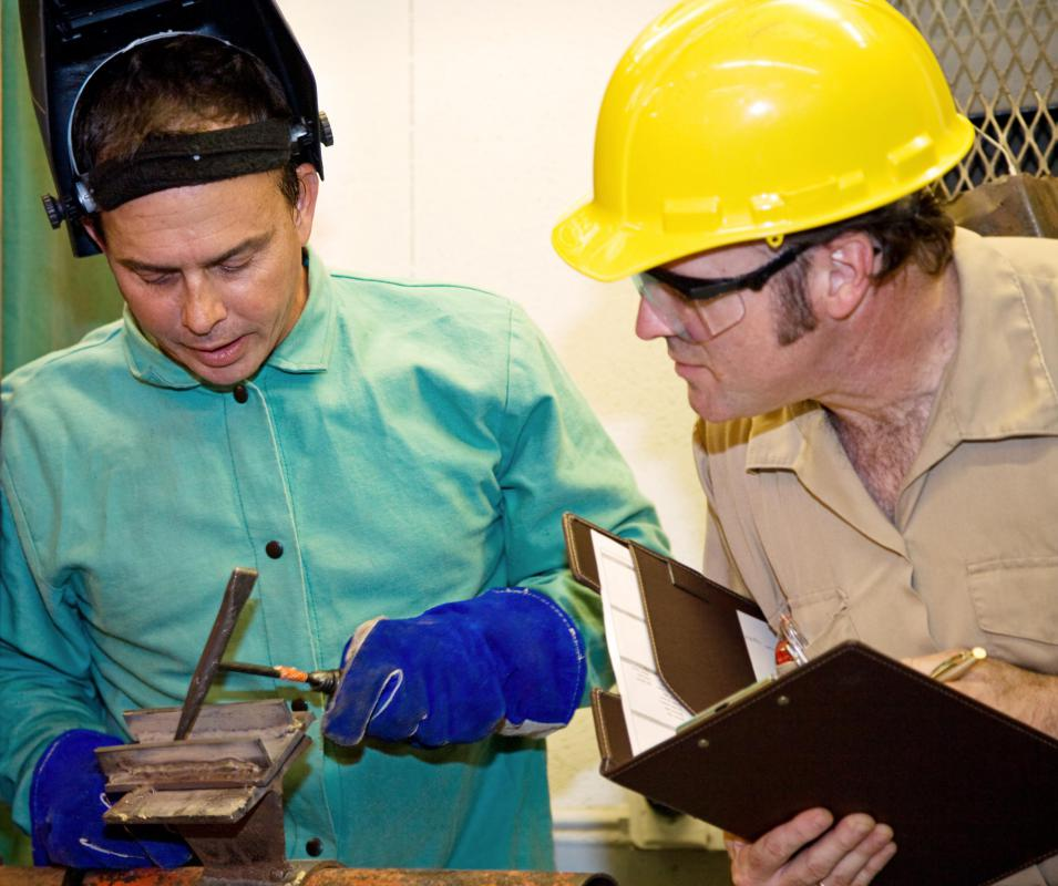Quality inspectors often perform statistical sampling of products during the manufacturing process.