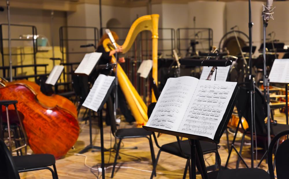 Full orchestras have musicians covering a variety of instruments.