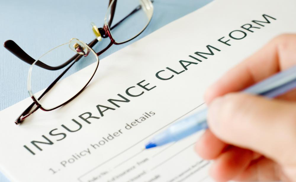An insurance claim form.
