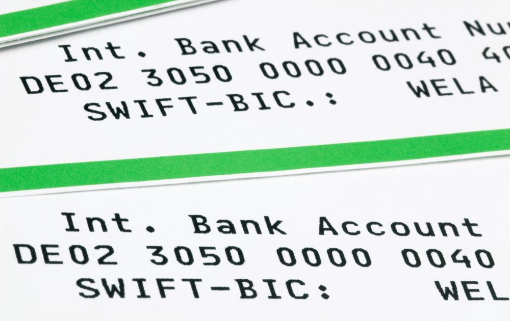 Records Of An International Wire Transfer With A Swift Code On It