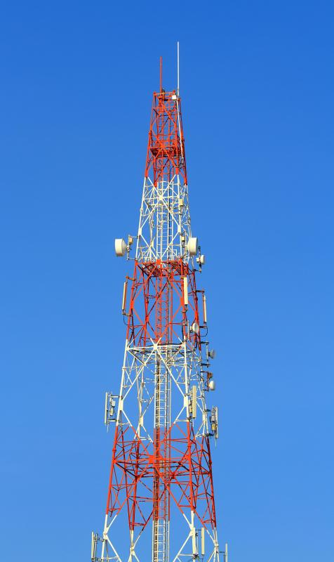4G signals are broadcast from specialized towers.