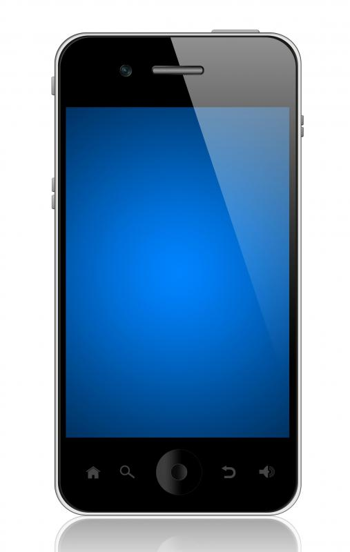 A smartphone with a touch screen.