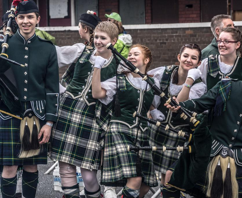 Kilts have a long history in Scotland.
