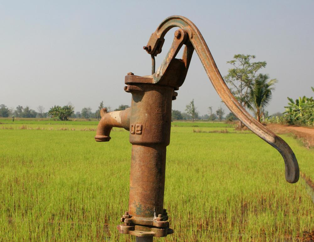 Water pumps may be used to irrigate crops.