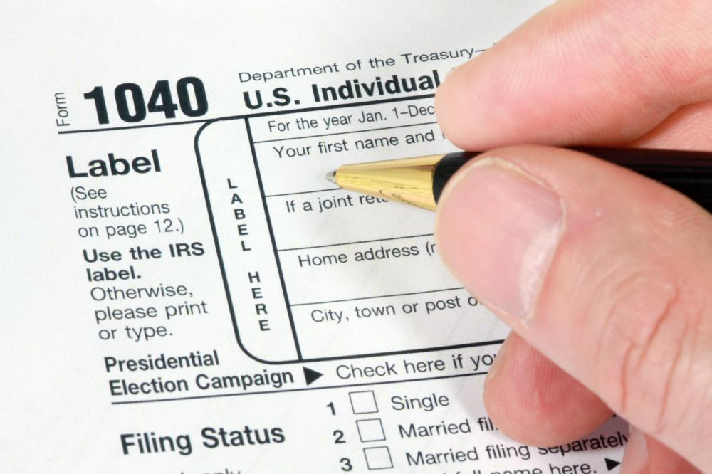 Individuals file a Form 1040 as part of their tax return.