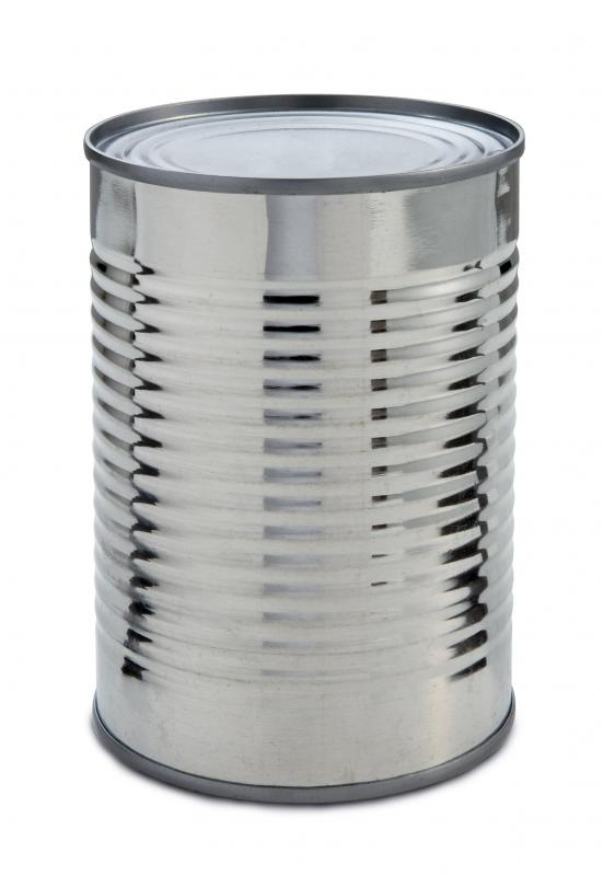 Aluminum food cans may be recycled.
