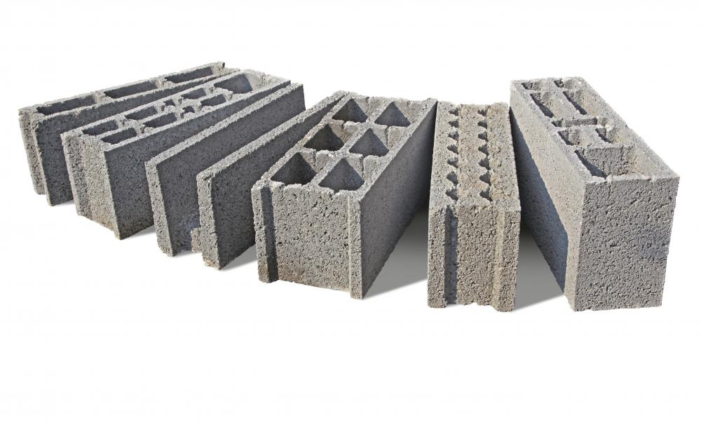 Cinder blocks are common masonry materials.