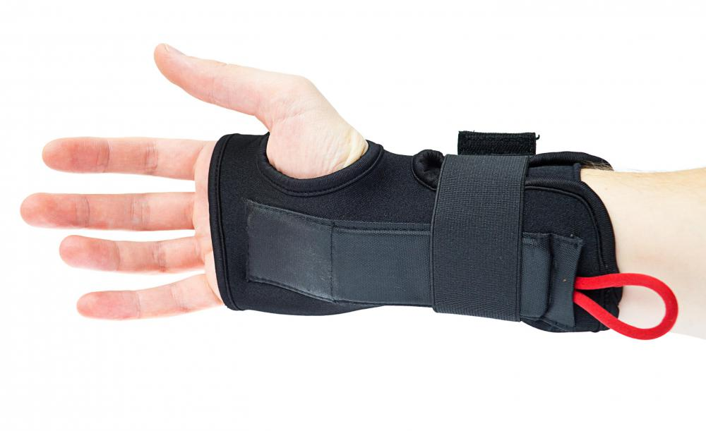 A wrist brace may help treat a sprained wrist.