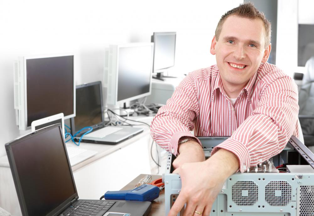 Some IT professionals specialize in hardware, while others focus on programming software.