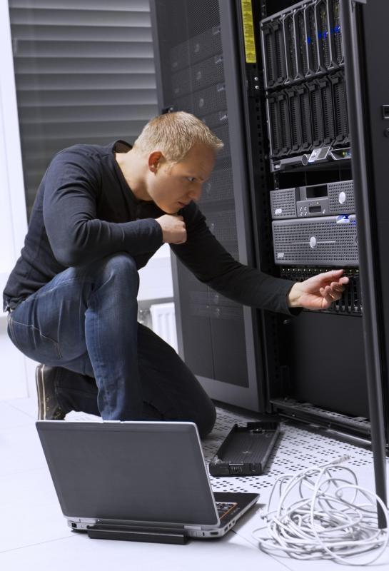 Data center technicians handle tasks including running new cable and upgrading or installing new equipment.