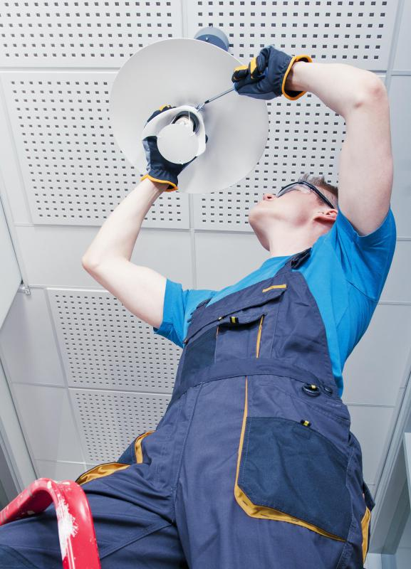 Maintenance workers must keep electrical systems running properly.