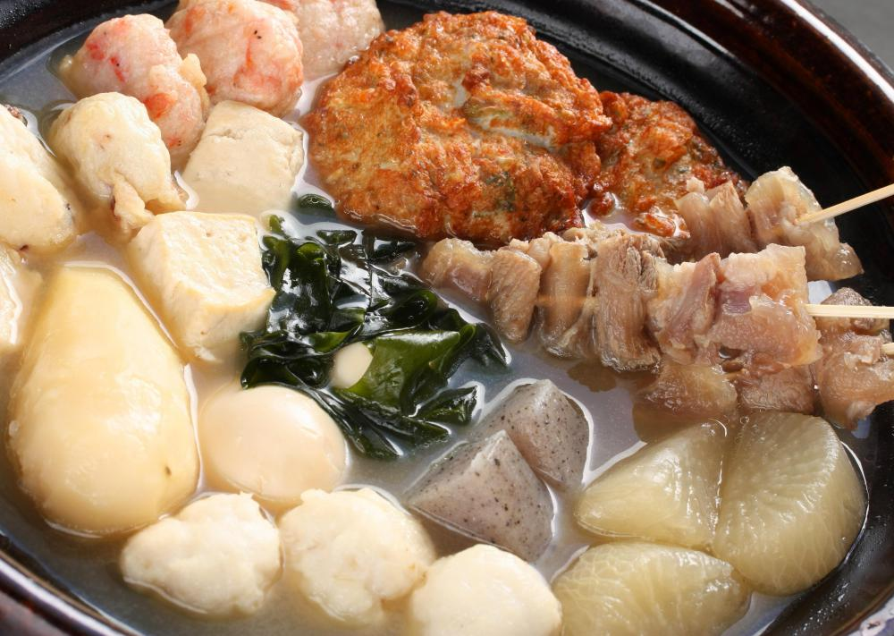 Japanese oden contains konjac.