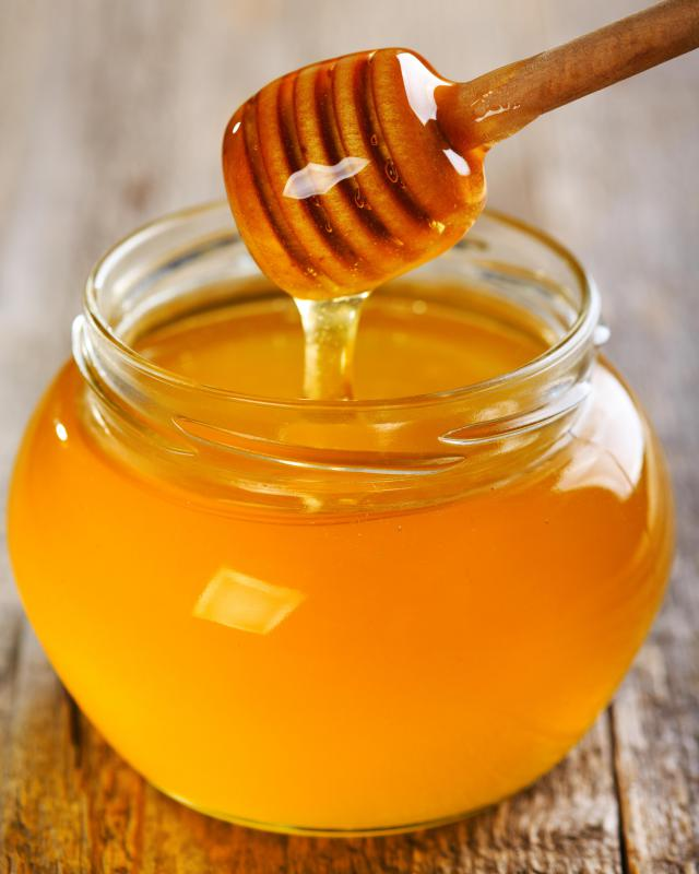 Putting some honey in hot tea is often used to treat a bronchial cough.