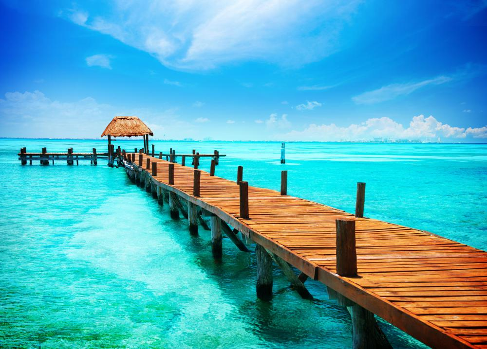 Jetty in the tropics.
