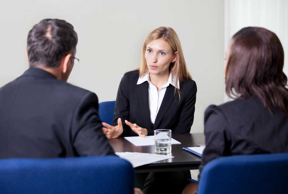 Human resource managers or specialists commonly conduct interviews to find ideal applicants for positions with their company or organization.