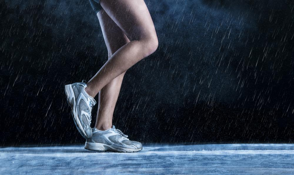 Running into rain drops is believed to get one wetter than walking into the rain.