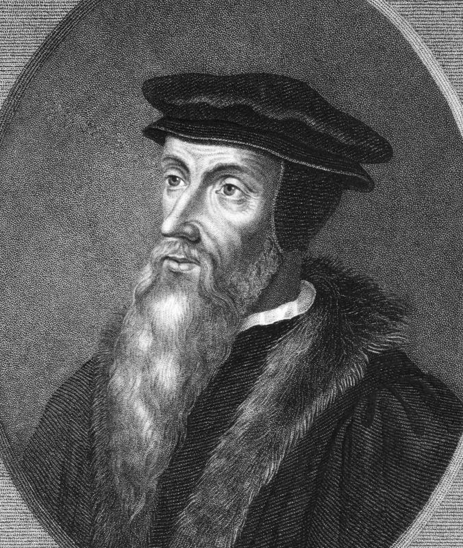 "The universe of ""His Dark Materials"" deviates from our own during the time of John Calvin, a Protestant thinker."