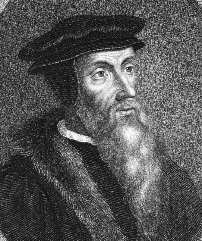The Protestant preacher and scholar John Calvin is responsible for Calvinism.