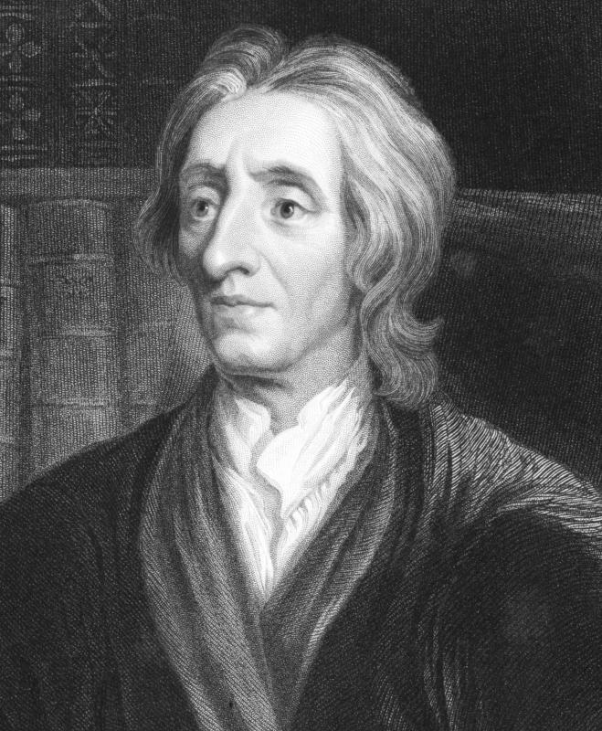 John Locke views man as having morality and does not see him in a constant state of war.